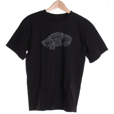 Off The Wall Zag Check Youths S/S T-Shirt - Black