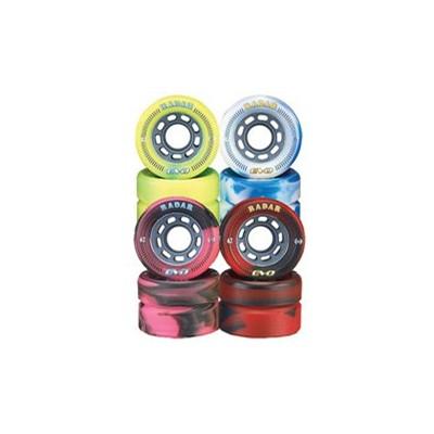 Evo 62mm Roller Derby Skate Wheels- White/Blue