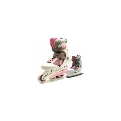 Orion White/Pink Inline Skates/Ice Skates
