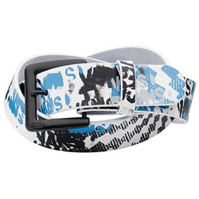 Wreckage Leather Belt - White/Blue