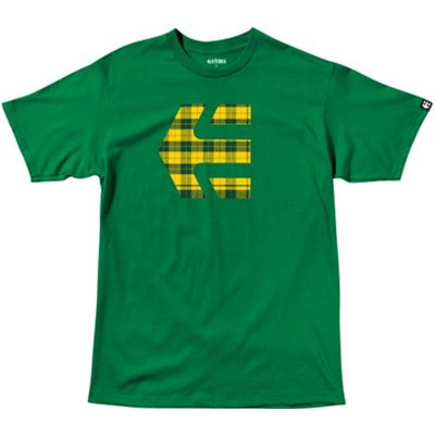 Icon Plaid Kelly Green Youths S/S T-Shirt