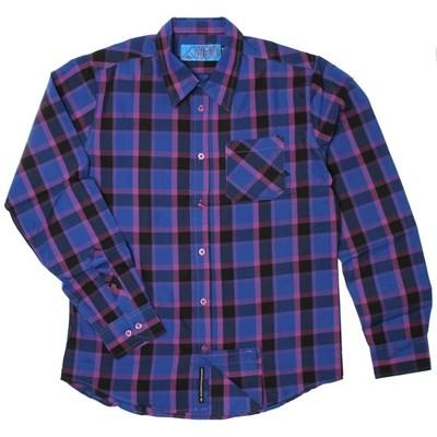 Hsu Ripley Purple L/S Woven Shirt