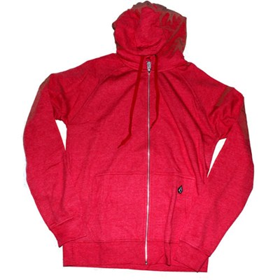 Timesoft II Heather Berry Red Ultra Slim Zip Hoody