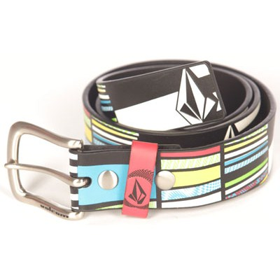Mixed Bag White/Black Leather Belt