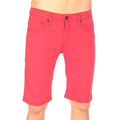 Vorta Red Denim Shorts