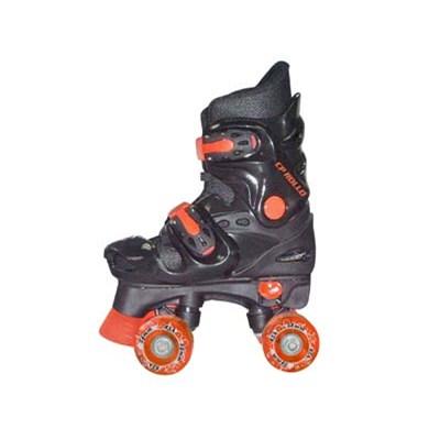 Rollo Black Kids Quad Roller Skates