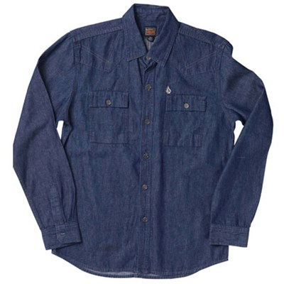 Havens Chambray Indigo Wash L/S Denim Shirt
