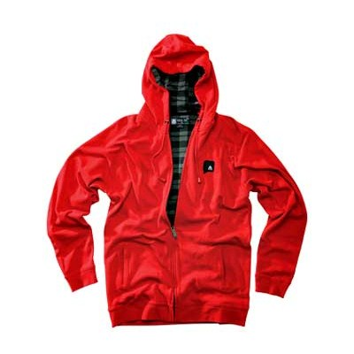 Token Heather Red Zip Hoody