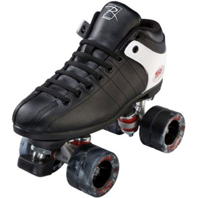 Dash Black/White Quad Roller Skates