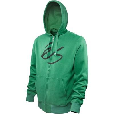 Script Green Zip Hood Fleece