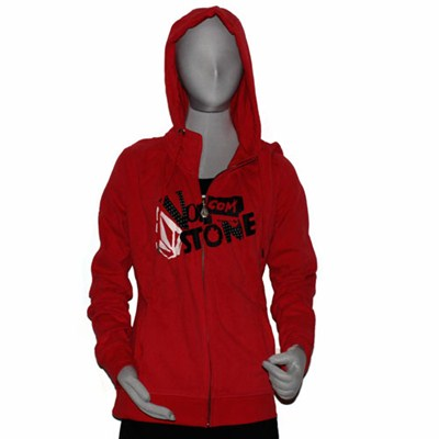 Two Choice Ruby Red Zip Hoody