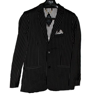Dapper Grey Stripe Stone Suit Jacket