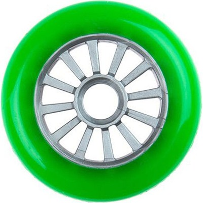 Low Profile Green/Silver Scooter Wheel