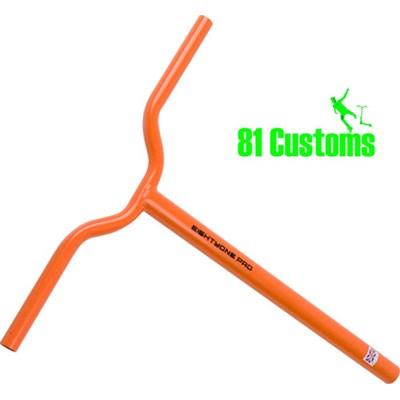 81-Pro Orange BMX One Piece Scooter Handlebars