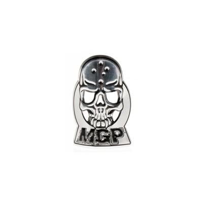 MGP Headtube  Skull Logo Badge - Silver