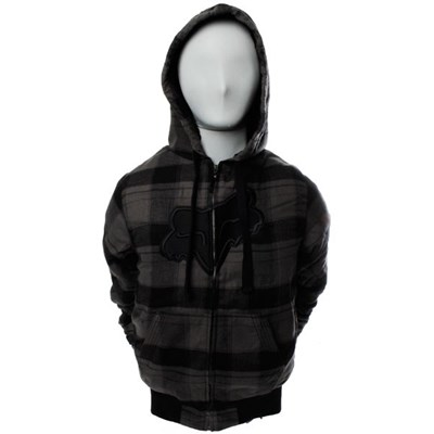 Big Dave Charcoal Flannel Sherpa Zip Hoody