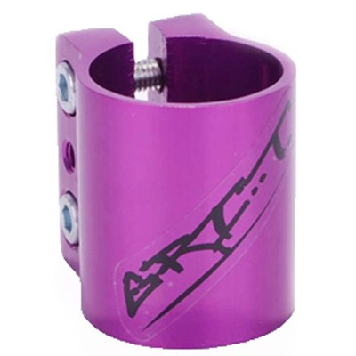 Triple Collar Clamp - Anodised Purple