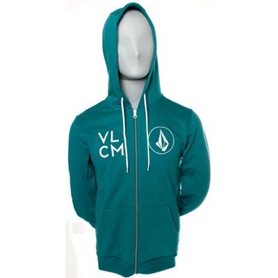 Zzzip Slim Zip Fleece Hoody - Blue Green