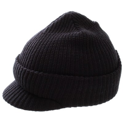 Clinger Cuffed Visor Beanie - Black