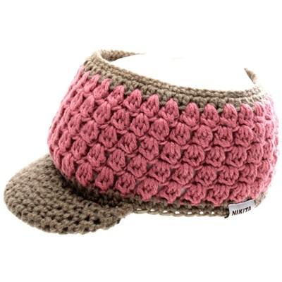 Mari Innsbrooklyn Visor Beanie - Tan/Dirt Pink