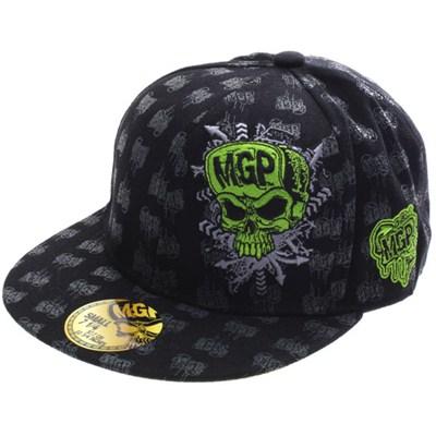 MGP Logo Fitted Flat Bill Flexfit Cap - Black