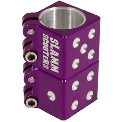 Dice Collar Clamp - Purple