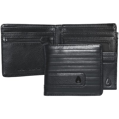 Showtime Bi-fold Zip Wallet - All Black Line