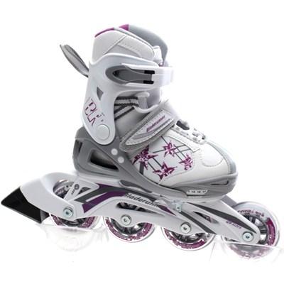 Bladerunner Phaser G Girls Recreational Inline Skate - White/Purple Stars