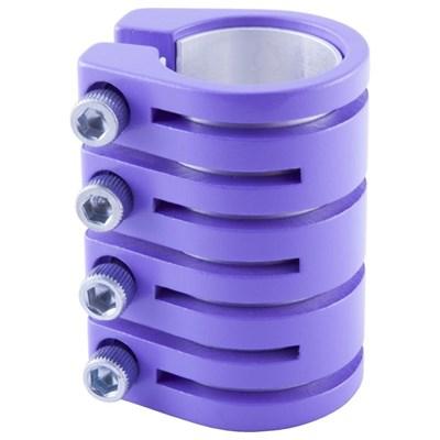 Quad Collar Scooter Snake Clamp - Purple  (inc Shim)
