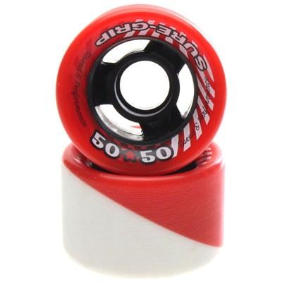 50/50 Red/White 62mm Roller Skate Wheels