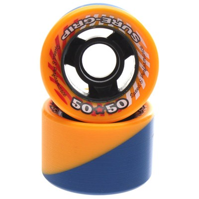 50/50 Blue/Orange 62mm Roller Skate Wheels