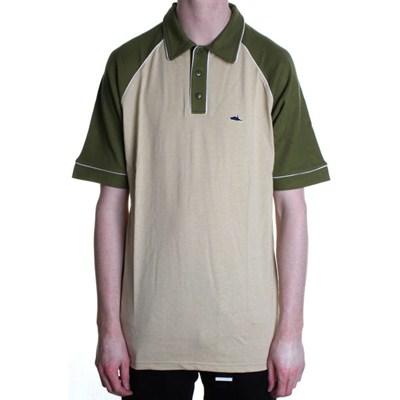 Govan S/S Polo Shirt - Khaki/Green