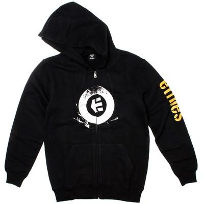 Stamped Black Youth Zip Hoody