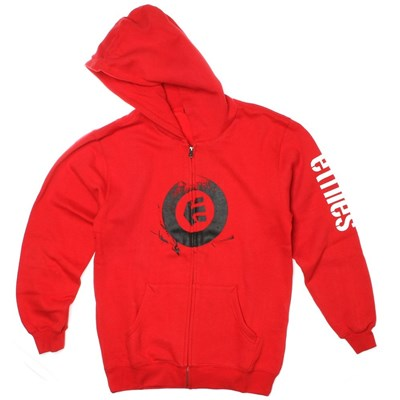 Stamped Red Youth Zip Hoody