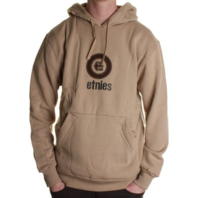 Corporate Applique Pullover Hoody - Khaki