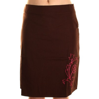 Snap Skirt - Brown