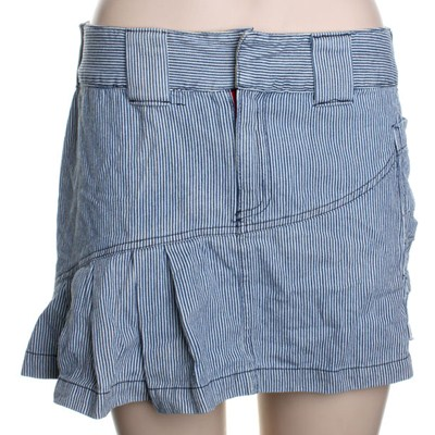 Mary Jane Mini Skirt - Pinstripe Blue