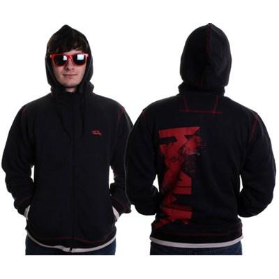 Mix Mood Sweater Youth Zip Hoody - Black