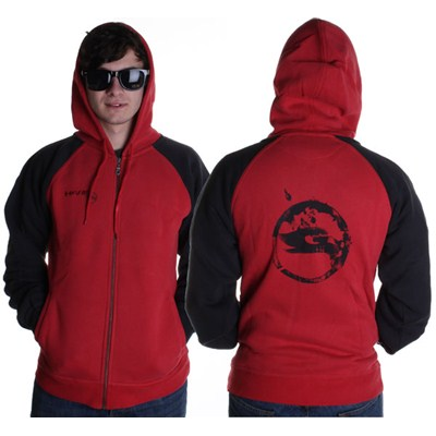 Stamp Youth Rider Zip Hoody - Red