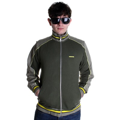 Trilogy Power Zip Track Jacket - Army Green