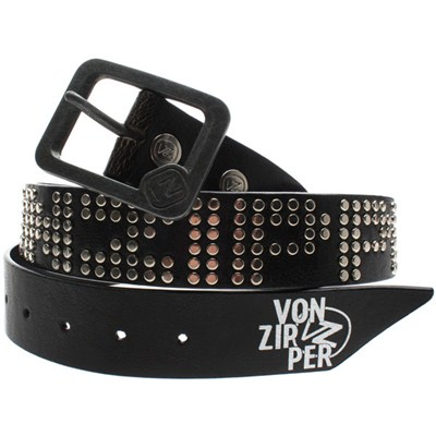Ribbed PVC Belt - Black