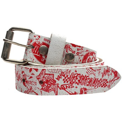 Just Like Me Belt - White/Red