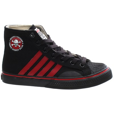 Duane Peters Hi Top 4-Stripe Black/Red Shoe