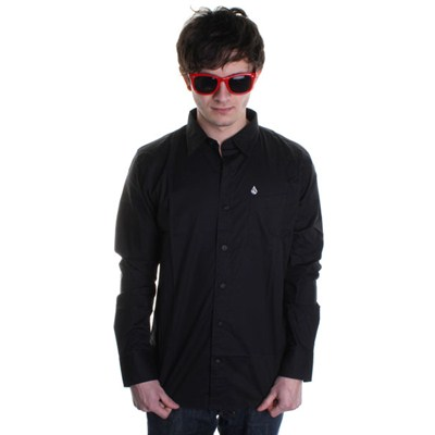 XYZ Solid L/S Shirt - Black
