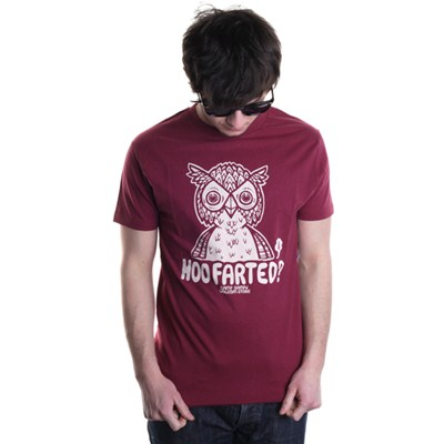 Hoo Farted S/S T-Shirt - Plum