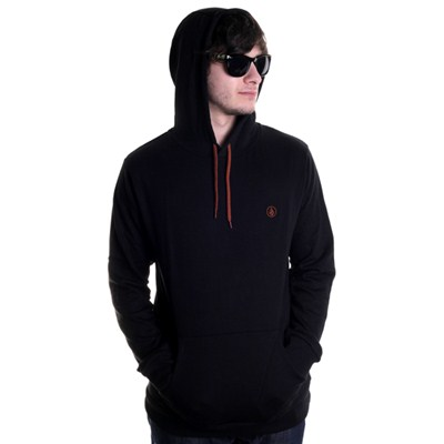 Icon Pullover Fleece Hoody - Black