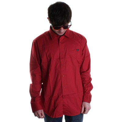 XYZ Solid L/S Shirt - Vintage Red