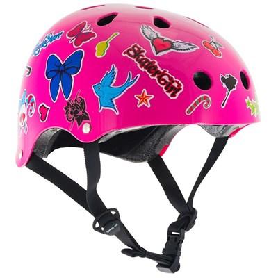Essentials Pink Sticker Helmet