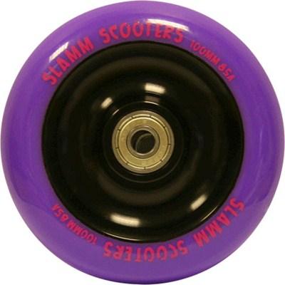 Metal Core Scooter Wheel and Bearings - Purple