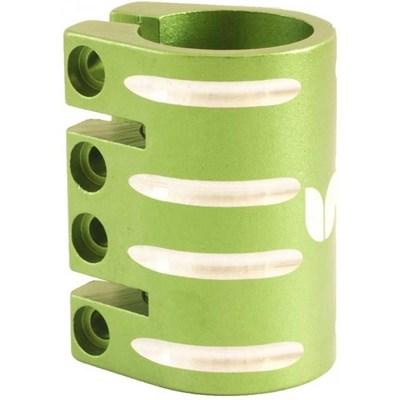Quad Collar Scooter Clamp - Green  (inc Shim)